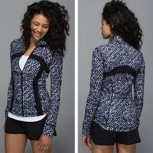 Lululemon Define Jacket Net Pop White Black 12